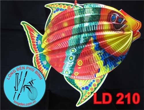 Lồng Đèn Trung Thu Giấy Xếp Con Cá 7 Màu