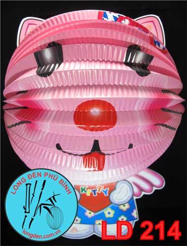 Lồng Đèn Trung Thu Giấy Xếp Hello Kitty